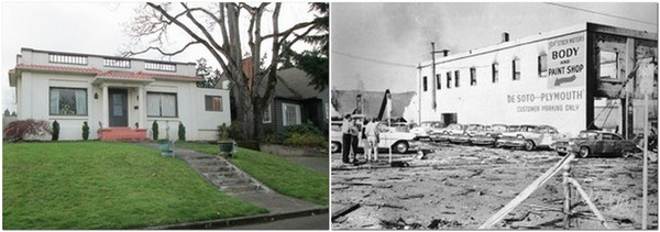 Roseburg House and Blast Photo