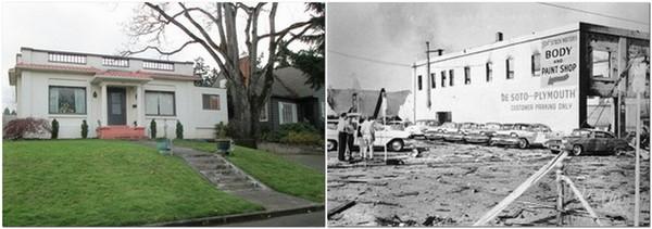 Roseburg House and Blast Photo
