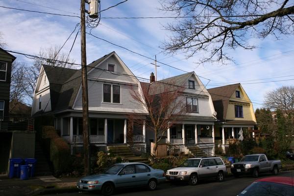 Historic houses in the Buckman neighborhood.