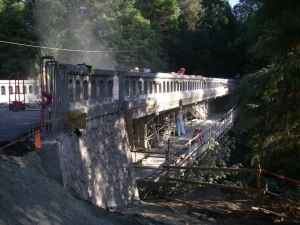 ODOT rehabilitation of the Prospect Arch Bridge in Jackson County.