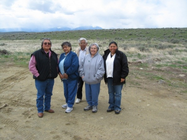 Proposed wind farm project in Confederated Tribes of the Umatilla Indian Reservation ceded lands ( l. to r. Fermore Craig Sr., Marvella Jones, Eddie McFarland, Delphine Wood, Dara Williams-Worden)