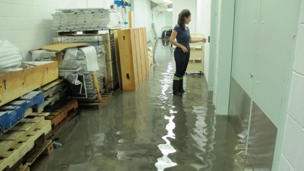 Flooding at the Montreal Museum of Contemporary Art (Courtesy Montreal Museum of Contemporary Art)