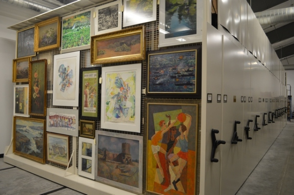 Through a Museum Grant, the BCHS purchased supplies to hang framed art and photographs.