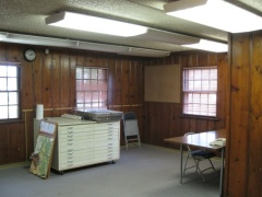 Interior of the Office in 2010, before restoration work began.