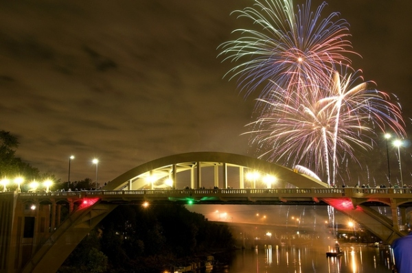 Oregon City celebrates the reopening of the Willamette River Bridge -- locally known as the Arch Bridge -- in October 2012. The bridge project was a 2013 recipient of an Oregon Heritage Excellence Award.