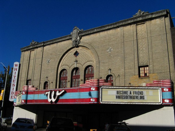 The Whiteside Theatre and marquee (credit: Jasperdo).