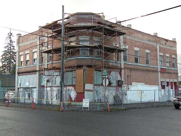 The Rinehart Building (above) was home to the Cleo Lillian Social Club from the 1950s-1990s, an historic anchor in North Portland's black community.