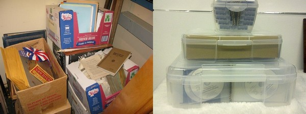 Mentors want to help you take your collections from this (left) to this (right)!