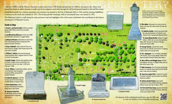 Linkville Cemetery brochure map