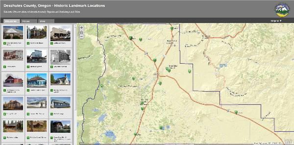 "Deschutes County's Historic Landmark ""Story Map"""