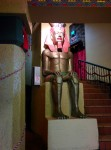 One of the regulars at the historic Egyptian theater in Coos Bay.