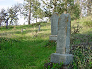 Monuments in Mosier Cemetery