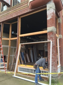 The building's architectural secrets were found during renovation.