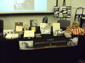 OHSU Historical Collections & Archives display